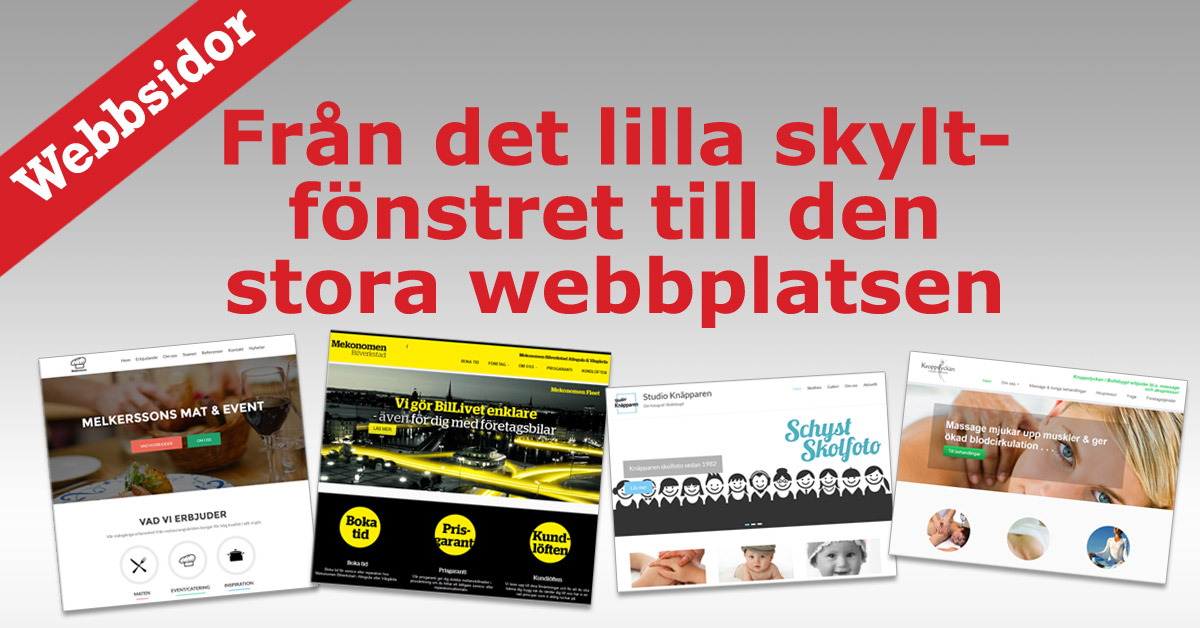 Bygga webbplats, webbsida, hemsida . . .