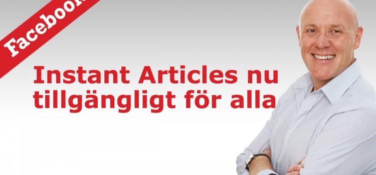 Facebook Instant Articles är här!