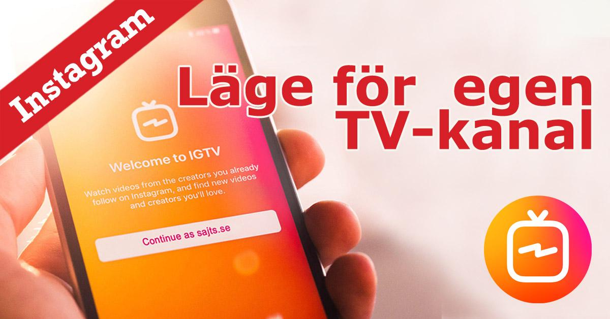 Instagram TV - IGTV